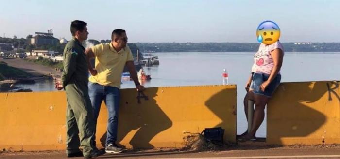 Em ato heroico, Major do CB impede que mulher tire sua própria vida na ponte do Rio Madeira